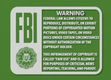 FBI warning.